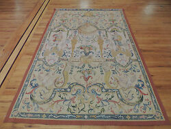 5x7 Elegant Oriental French Tapestry to hang floral & figure design