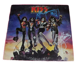 KISS x4 PAUL STANLEY SIMMONS FREHLEY CRISS SIGNED DESTROYER VINYL LP *PROOF*