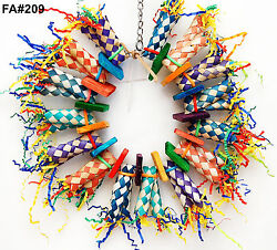 Pet Bird Parrot Toy Fire Ring Shreddable Cage Toys Amazon Conure Cockatoo $12.50