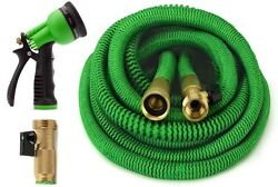 Garden Hose ALL NEW 2020 Expandable Hose Set With All Brass Connectors 4 Sizes $34.99