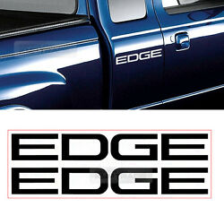 EDGE Logo Bedside Decals Sticker 2P For FORD 2001 02 03 04 05 2006 Edge Ranger