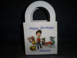 PAW PATROL Personalized Birthday Party 12 Favor Boxes goody bags $12.99