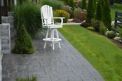 A & L Furniture Recycled Plastic Adirondack Swivel Bar Chair wArms