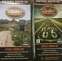 Butler Maps - Historic Route 66 - Pair of Official Touring Maps
