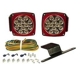 Clear Lens LED Submersible Trailer Light Stop Turn Tail License Kit Boat Marine $34.95