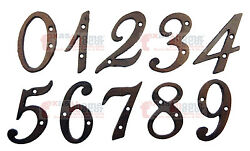Metal House Numbers Street Address 4 inch Rustic Cast Iron Pick ##x27;s from 0 9 $4.95