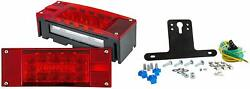 Submersible Trailer Rectangle LED Light KitStop Turn Tail and LicenseRedWhite $32.95