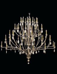 The Kind Bedchamber Silver Leaf & Crystal Hand Crafted  Chandelier