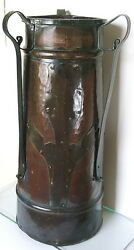 Huge Art Deco Russian Antique copper & brass umbrellacane stand similar $1400