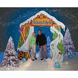 SKI LODGE personalized ARCH  * Christmas decorations * holiday play * party