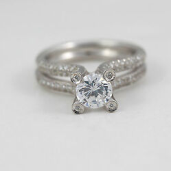 OUTSTANDING 1.80 CARAT D VS1 ROUND SHAPE DIAMOND RING 18 K WHITE GOLD LADIES