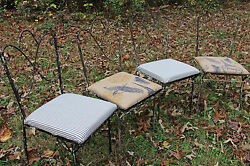 Authentic vintage wrought iron patio chairs french country shabby chic rustic