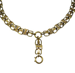 Antique Victorian 14K Gold Bookchain Book Chain Necklace - Complete! (RL1701F)