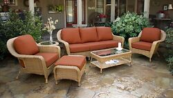 6 Pcs Outdoor Patio Furniture all-weather Mojave Resin Wicker Deep Seat Sofa Set