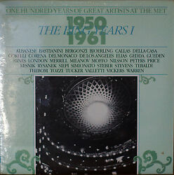 ONE HUNDRED YEARS OF GREAT ARTISTS AT THE MET THE BING YEARS I-SEALED1985 2LP $22.10