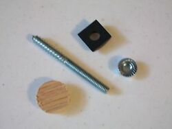 Lot of 25  Woodmark Stair Rail Bolt Fastener Kits PS 303 B Red Oak FREE SHIPPING