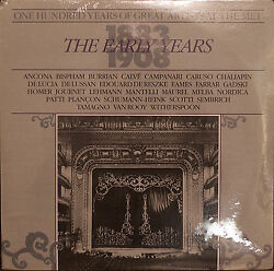 ONE HUNDRED YEARS OF GREAT ARTISTS AT THE MET THE EARLY YEARS-SEALED1985 2LP $21.00