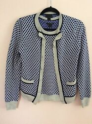 J.CREW COLLECTION Featherweight Cashmere In Diamond Dot Cardigan