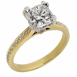 Forevermark Fire Cushion Diamond Engagement ring Noam Carver Setting 1.80 ctw
