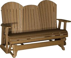 LuxCraft Recycled Plastic 5' Adirondack Glider Chair - Antique Mahogany