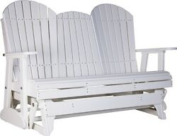LuxCraft Recycled Plastic 5' Adirondack Glider Chair