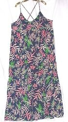 The Webster Maxi Sizes XSmall 2 Small 4 Floral Braided Spaghetti Strap Dress $12.00