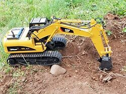 RC Excavator Tractor Toy Remote Control Metal Digger Truck Vehicle Full Function $153.90
