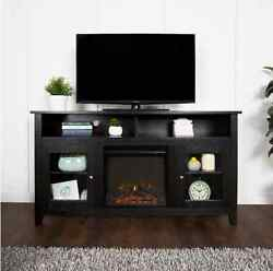 TV Stands for Flat Screens Fireplace Entertainment Center Console Highboy Black
