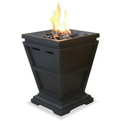 LP Gas Propane Outdoor Fire Pit Modern Table Top Patio Fireplace Portable Decor