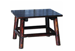 Wooden Coffee And End Tables Home Furniture Patio Deck Wood Decor Style Log NEW!