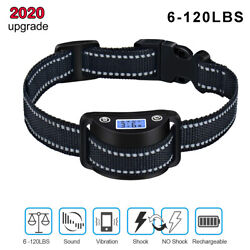 Rechargeable Dog Training Collar LCD Screen Automatic Anti Bark No Barking Shock