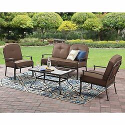Modern Outdoor Patio Furniture Conversation Sets Cushions Deck And Patio Table