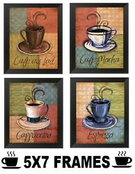 💗 Coffee Pictures 5x7 Cappuccino Espresso Wall Hanging Kitchen Diner Home Decor $18.99