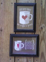 💗 Coffee Pictures 5x7 Faith amp; Jesus Kitchen Wall Hanging Home Decor $13.99