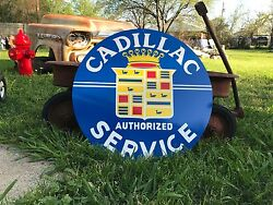 Antique Vintage Old Style Cadillac Sign $90.00