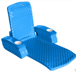 2 Position Bahama Blue Folding Swimming Pool Lounge Toy Yard Water Chair Floater