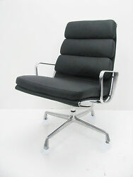 Herman Miller Eames Soft Pad Lounge with NEW Leather and Foam Cushions