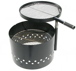 Volcano Grills Adjustable Height Swing Grill Fire Pit Grill Charcoal Wood Patio