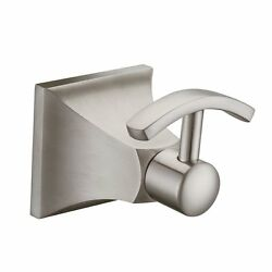 Angle Simple GE4308 Bathroom Lavatory Double Prong Coat and Robe Hook Brushed