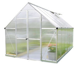 Essence 8' x 12' Hobby Greenhouse Silver