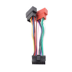 for sony mini disc car 16 pin iso 16 pin iso wiring harness for sony md xr cdx