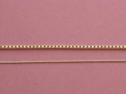Real 14Kt Yellow Gold 0.55mm1.5mm  Solid Italian BOX Chain Necklace