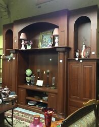Custom Cherry Built Entertainment Center - Buyer To Hire Delivery Service
