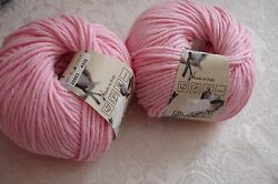 Cascade Yarns Cotton Club Cotton Yarn Pink Blue Baby  Lot of 4 NEW