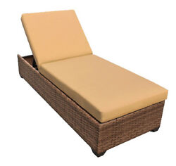 Outdoor Patio Wicker Chaise Lounge Chair Furniture Sesame