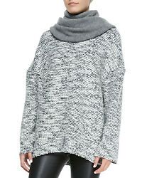 EXCELLENT  HELMUT LANG $335 SOURCE CHUNK KNIT WOOL SWEATER  SIZE S