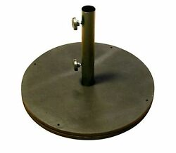 Phat Tommy Black Cast Iron Patio Umbrella Base Home Furniture Outdoo