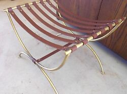 HEAVY FRENCH IRON STRAP CURVED BENCH LARGE GORGEOUS PIECE 40'S