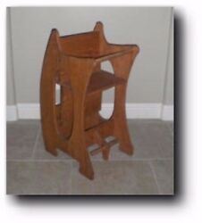 Amish 3 in 1 High Chair The Baby Sitter Woodworking Plans $16.95