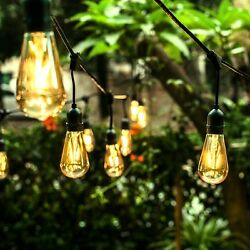 Edison Bulb String Light Patio Outdoor Party Globe Light All Season 48 Foot LED